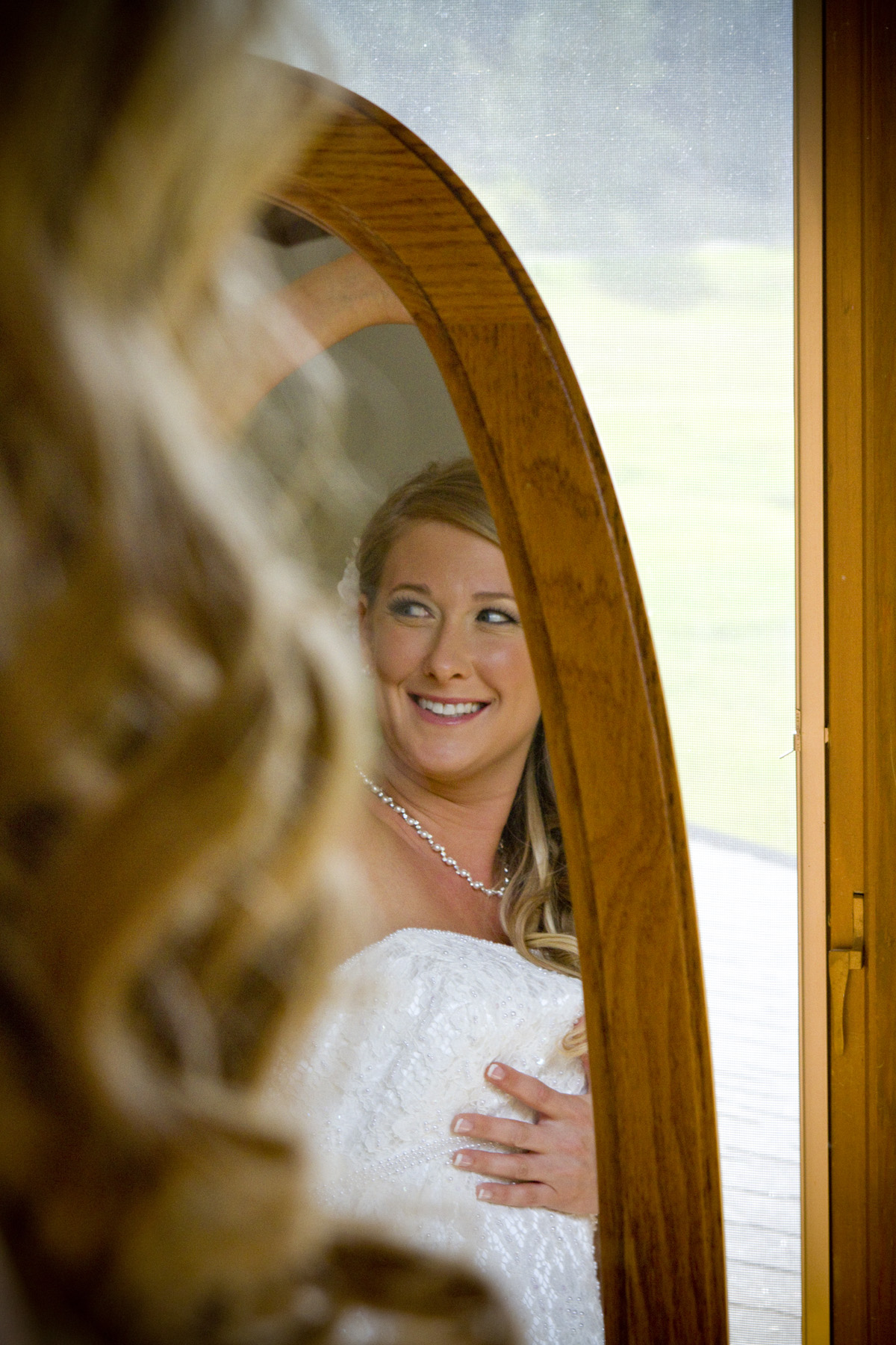 Photograph of bride getting ready near Evergreen Colorado
