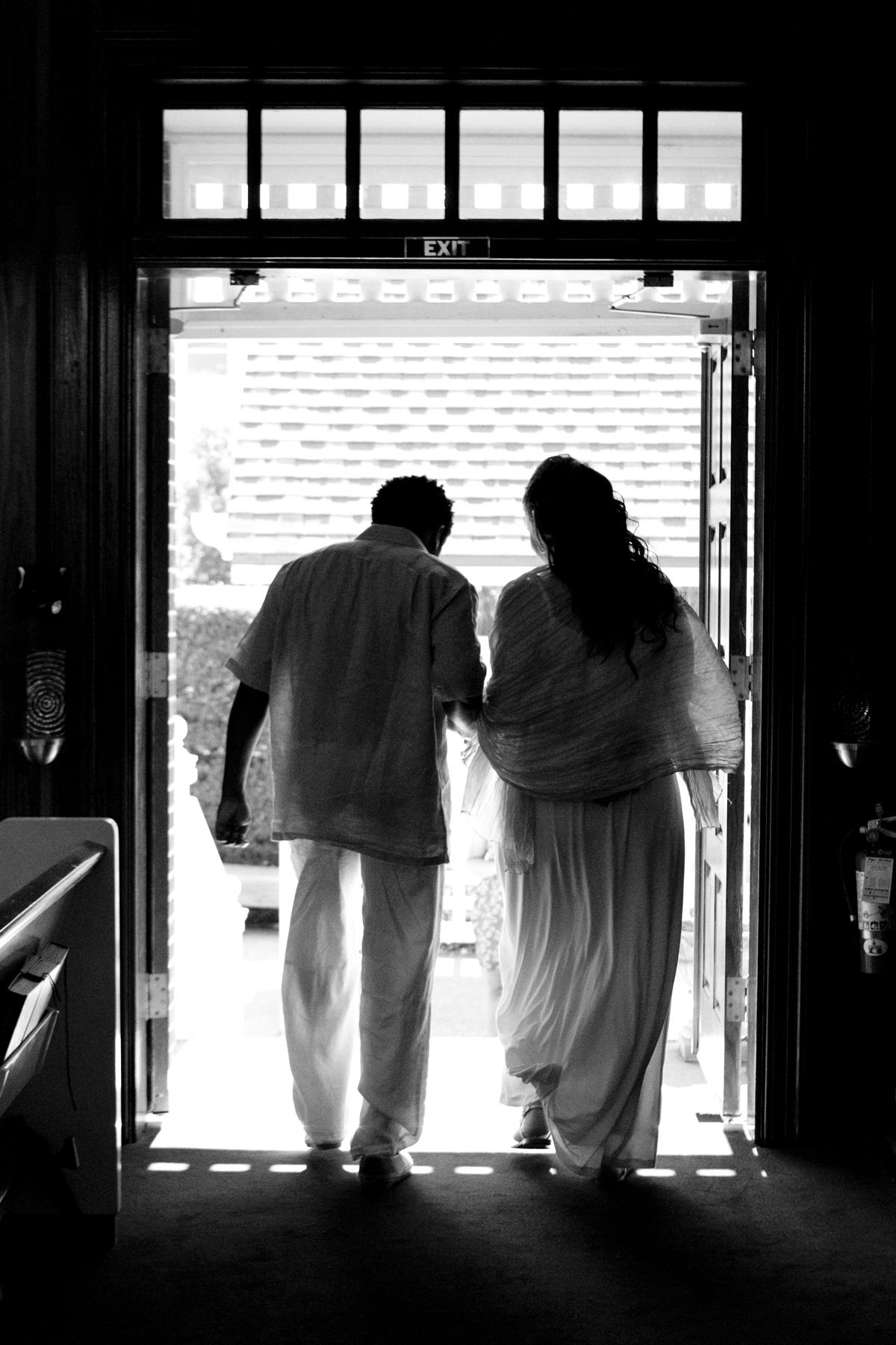 Wedding photograph of bride and groom in Wrightsville Beach North Carolina
