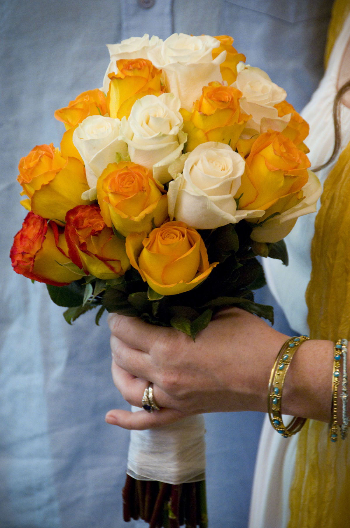 Photograph of brides bouquet at a wedding in Wrightsville Beach North Carolina