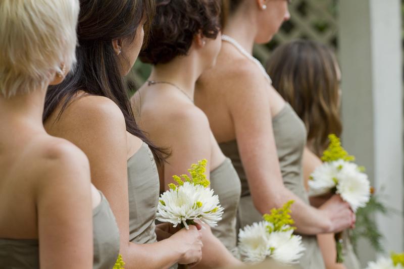 Photograph of bridesmaids at a wedding in Denver Colorado