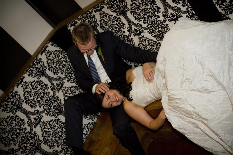 Portrait of bride and groom in Denver Colorado