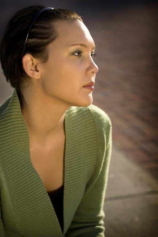 Portrait of model in Denver Colorado