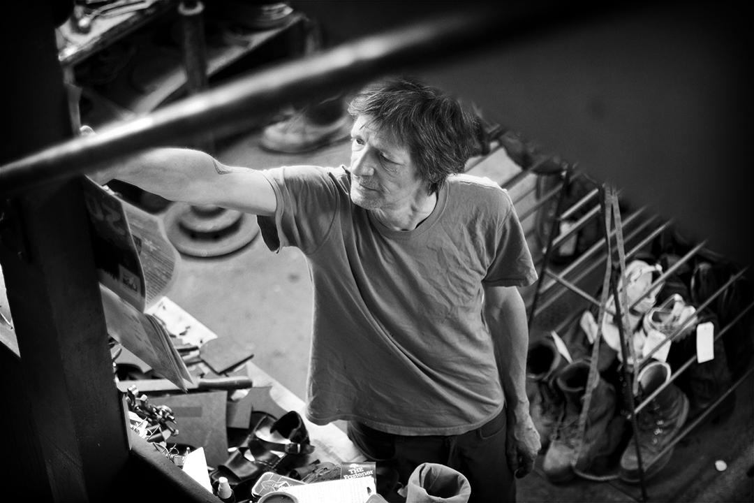 Landis cobbler portrait in Durango Colorado