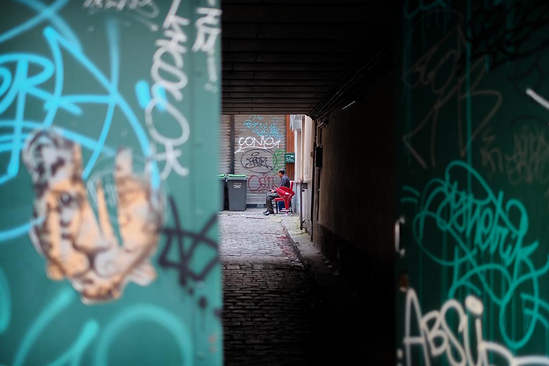 Morning street scene in Paris France