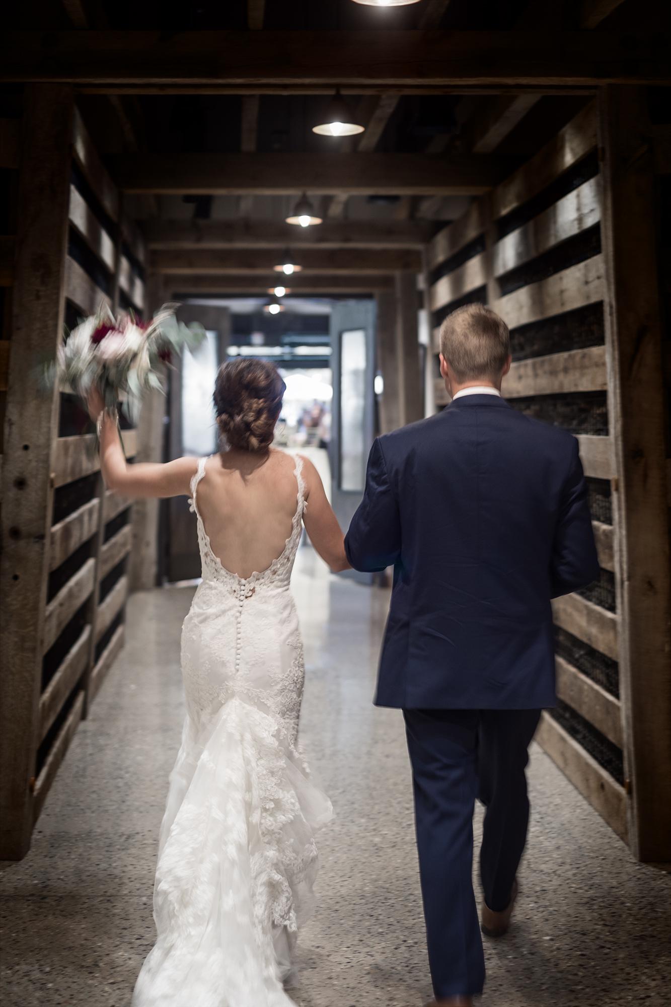 Wedding photograph of bride and groom at Glacier Club near Durango Colorado