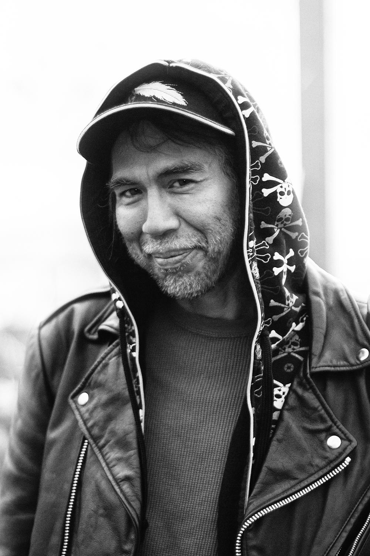Street portrait of man in Seattle Washington